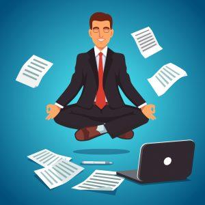 ontspanningsapp werkplekoefening