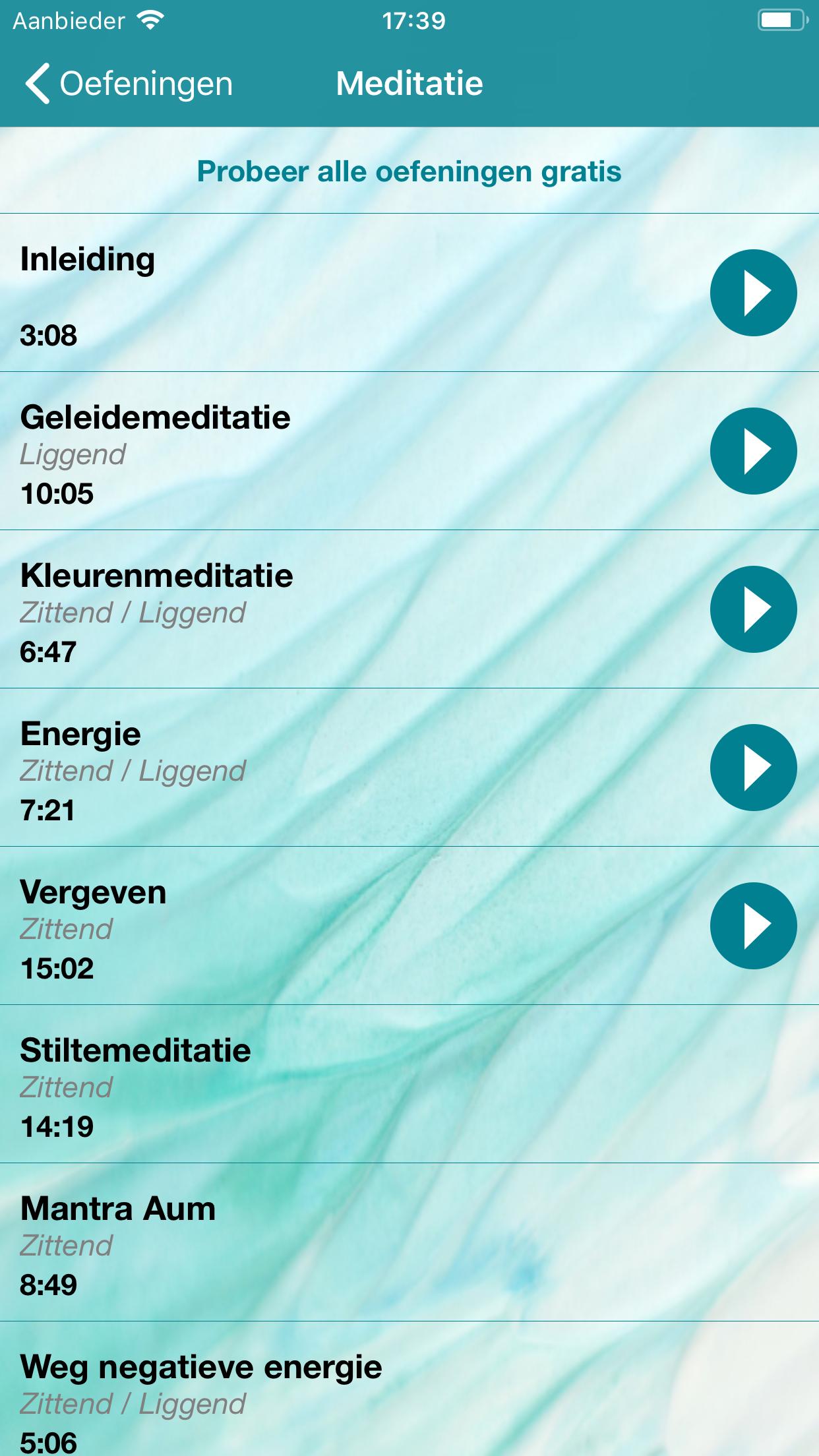 screenshot nieuw om oefeningen toe te voegen in iTunes M&O